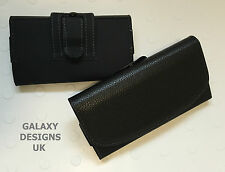 Quality Leather Belt Clip Pouch Holster Black Case Cover For Blackberry Various