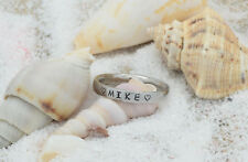 Name Ring -Stainless Steel Ring Personalized Engraved thin 3mm Stackable