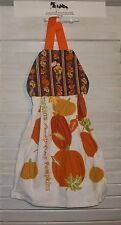 Scarecrows Leaves Pumpkins Fall Autumn Hanging Kitchen Oven Dishtowel HCF&D