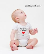 Infants 12 months White GREEK One Piece Nouno Nouna Loves Me See Designs NEW