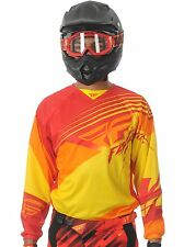 Fly Racing Red-Yellow 2014 Kinetic Blocks MX Jersey