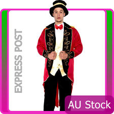 Adult Male Ringmaster Costume Mens Circus Fancy Dress Lion Tamer Outfits