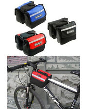 New Cycling Bicycle Sport Frame Bike Pannier Front Tube Bag Double Sides