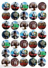 35 x THOMAS THE TANK ROUND EDIBLE CUPCAKE TOPPERS EDIBLE WAFER CARD RICE PAPER