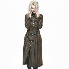 Punk Rave Steampunk Executioner Women's Brown Trench Coat [Special Order] - Goth