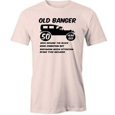Old Banger 50th Birthday T-Shirt Bday Gift Present Idea 50 Years Old Tee New