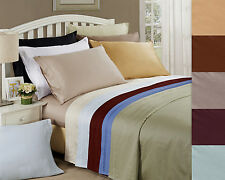 Sheet Set 650-Thread Ultra Soft Egyptian Cotton Deep Pocket, 16 Colors