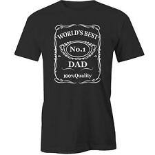 World's Best Dad T-Shirt Fathers Day Present Gift Idea Tee New