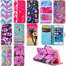 Fashion Flip Leather Wallet Case Cover w/ Card Holder Stand for iPhone/Samsung