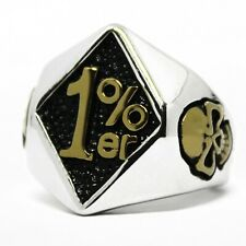 1%er One Percent, Solid, Outlaw Motorcycle Biker Ring Sz 8,9,10,11,12,13,14,15