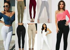 WOMENS LADIES GIRLS HIGH WAISTED EXTREME RIPPED TUBE SKINNY JEANS SIZE UK 6-16