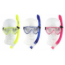 Kids Swimming Diving Scuba Anti-fog Goggles Glass Mask Snorkel Set