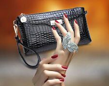 2015 New Womens Crocodile Clutch Chain Purse Lady Handbag Tote Shoulder Hand Bag