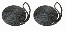 Black Mooring Ropes, Softline, Warps, Boat Lines, Yachts, Canal, Boats 12mm-16mm