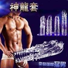 NEW Male Penis Extension Sleeve Add Cock Length Girth Enhancer Extender - Dragon