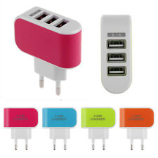 3.1A Triple USB Port EU Plug Wall Travel AC Charger Adapter For Samsung HTC New