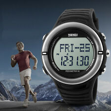 SKMEI Sport Men Pedometer Calorie Counter Heart Rate Monitor Pulse Fitness Watch