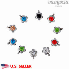 Multi Color Stainless Steel Flower Bezel Charms Jewelry Making Findings 9x8mm
