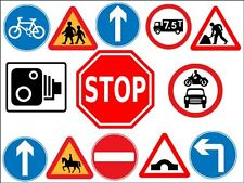 Road Traffic Warning Sign Cup Cake Topper Party Decorations On Rice Paper