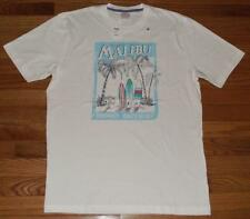 NEW NWT Brooks Brothers Mens T-Shirt Graphic Tee Dreaming Malibu Surf Boards *V4