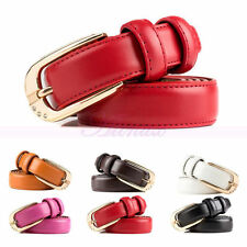 Fashion Leather Womens Lady Crystal Pin Buckle Waiststrap Jeans Belts Waistbands
