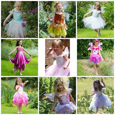 Girls Fairy Tutu Outfit Wings Wand Fancy Dress Costume Frozen Rosebud Butterfly
