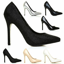 WOMENS HIGH HEELS POINTED TOE CORSET PUMPS COURT SHOES LADIES FASHION HEELZ SIZE