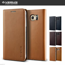 Verus Genuine Leather Wallet Diary Cover For Samsung Galaxy S6 Edge+ Plus Case