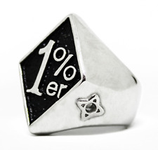 1%er One Percent, Outlaw Motorcycle Biker Ring, Stainless  8,9,10,11,12,13,14,15