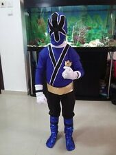 Blue Boys Power Rangers costume kids Samurai cosplay children Halloween zentai