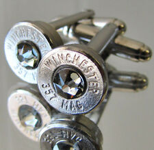 357 MAGNUM Winchester Bullet Cufflinks CHOICE Crystal Silver Nickel MAG Pen Avai