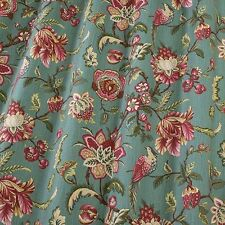SMD iLiv Linden Floral Print 100% Cotton Curtain / Furnishing Fabric - Azure