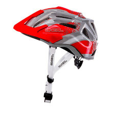Oneal NEW Q Cycle Red Grey Downhill Mountain Bike MTB BMX Bicycle Helmet