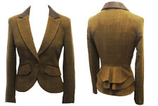 New 1920s 30s 40s style Bustle Victorian Heritage Downton Tweed Riding Jacket