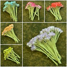 50pcs.Mini Gypso Flower Gypsophila Mulberry Paper Scrapbook Wedding Card 0.5 cm