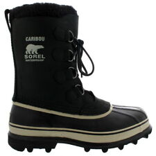 Mens Sorel Caribou Snow Fur Lined Mid Calf Laced Winter Suede Boot All Sizes