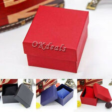 Fine Present Gift Boxes Case For Bangle Jewelry Ring Earrings Wrist Watch Box US