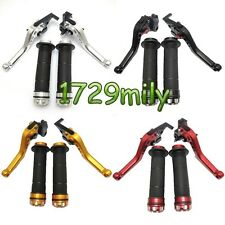 CNC Short Version Brake Clutch Levers Hand Grips for NINJA 250R ZX10R/9R Z750 US