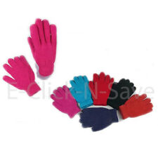 WHOLESALE LOTS UNISEX MEN WOMEN FINGER WINTER ASSORTED COLORFUL KNITTED GLOVES