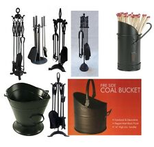 Iron Black Great Value Fireplace Fireside Accessories Companion Sets Fire Cast