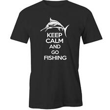 Keep Calm And Go Fishing T-Shirt Tee New