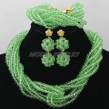 Latest Nigerian African Wedding Beads Jewelry Set,African Wedding Beads New 2015
