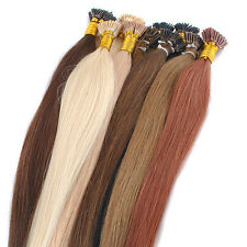 20'' 100s 50g Keratin Stick tip/I-tip Remy Human Hair Extensions + Micro Beads
