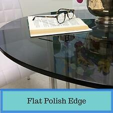"""Grey Round Tempered Glass Table Top 1/2"""" Thick  Flat Polish Edge Free Shipping"""