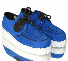 Underground Single Sole Suede Wulfrun Creeper (Blue/Black/Grey)