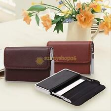 Business Waterproof  ID Credit Card Wallet Holder Leather Steel Pocket Case Box
