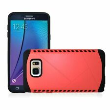 For Samsung GALAXY S6 EDGE Dual Layer Hybrid Protective Hard Slim Case + Glass