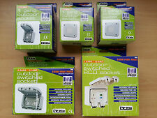 IP66 Storm Proof Waterproof Switches Sockets RCD Timer Switched 1 2 Gang Quality