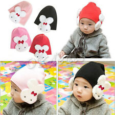 Cute Baby Kids Winter Rabbit Hat Boys Girl Ear Flap Cap Beanie Cotton Warmer New