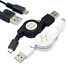 Eulogize Micro USB A to USB 2.0 B Male Retractable Cable Data Sync Charger Cord